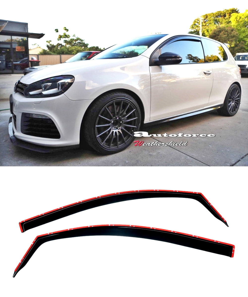 Volkswagen Golf / GTI / R - MK6 Side Visors In-Channel (2 DOOR) (HIC)