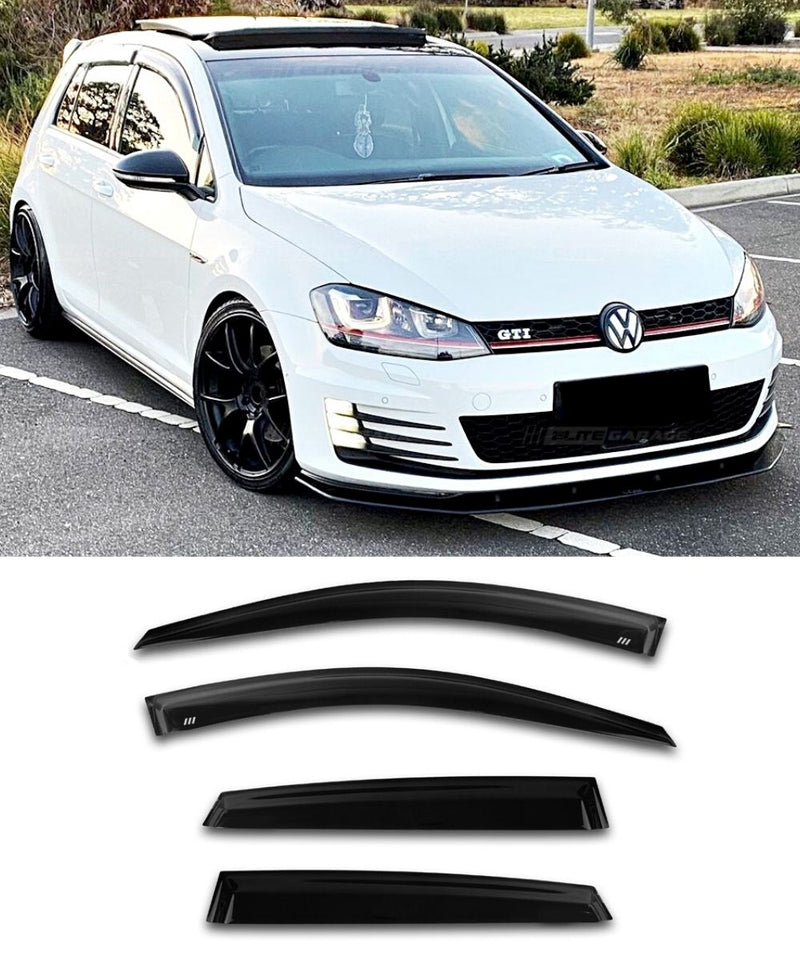 Volkswagen Golf / GTI / R - MK7/MK7.5 Side Visors (4 DOOR) (Elite Garage) - ELITE GARAGE
