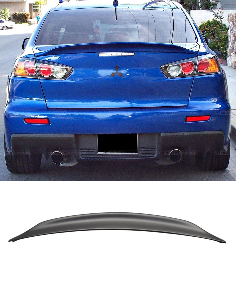 Mitsubishi Lancer EVO X 10 MR GSR Duckbill RS ABS Rear Trunk Spoiler (08-17) - ELITE GARAGE