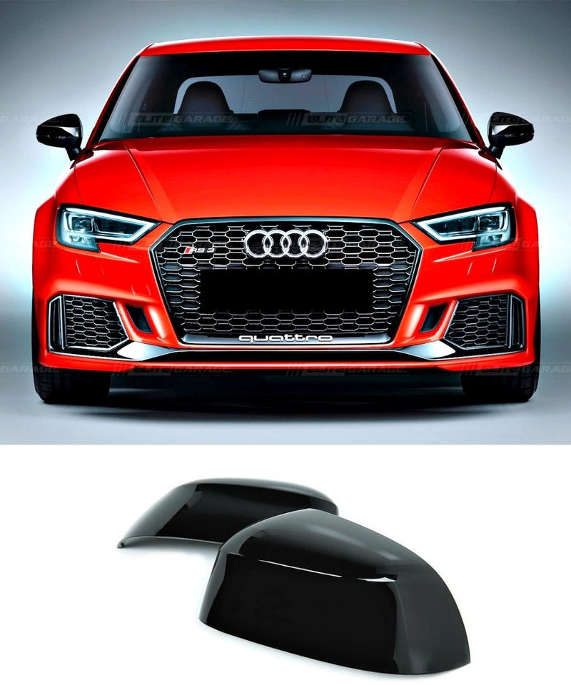 Audi A3 / S3 / RS3 - Mirror Case Replacement (GLOSS BLACK) (13-19) - ELITE GARAGE