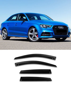 Audi A3/S3/RS3 Sedan (13-19) Window Visors / Weathershields / Weather Shields - ELITE GARAGE