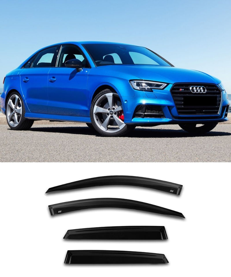 Audi A3/S3/RS3 Sedan (13-20) Window Visors / Weathershields / Weather Shields - ELITE GARAGE