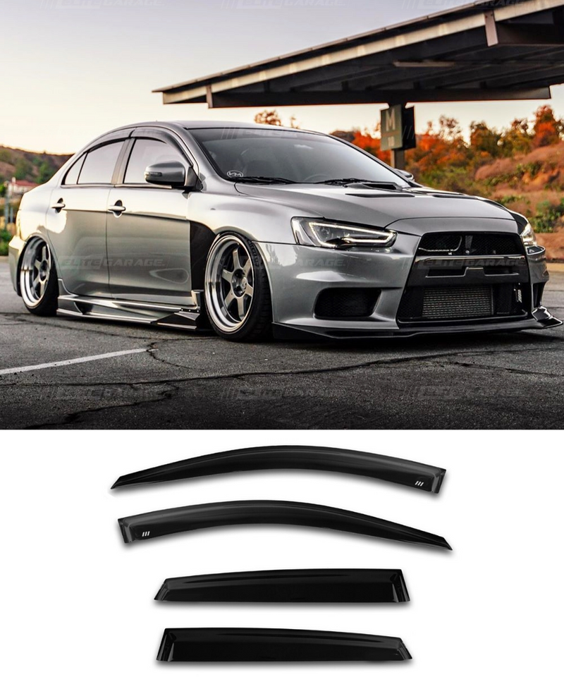 Mitsubishi Lancer EVO X - Side Visors (Elite Garage)