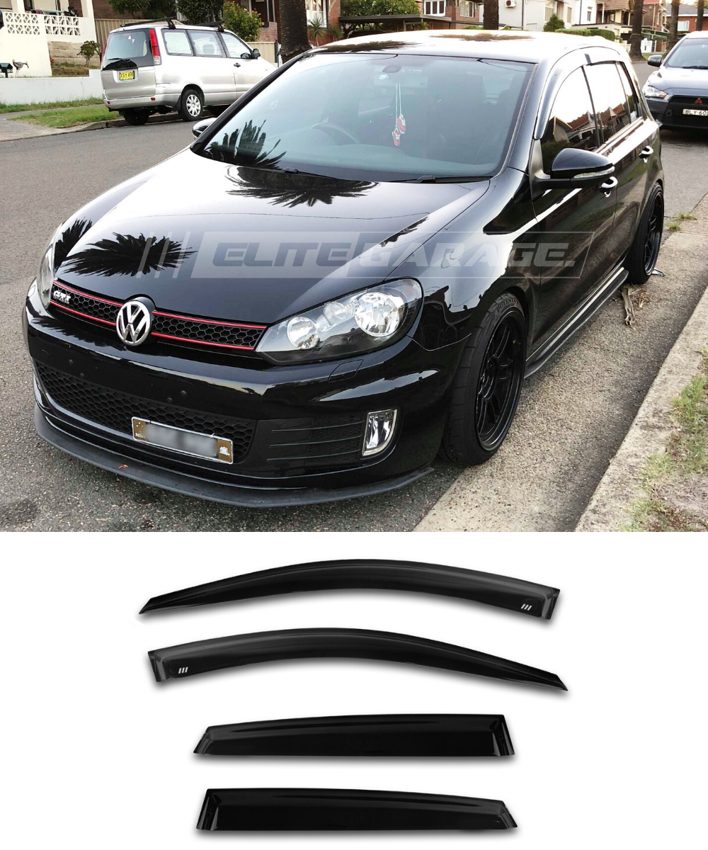 Volkswagen Golf MK6 (08-12) Window Visors / Weathershields / Weather Shields - ELITE GARAGE