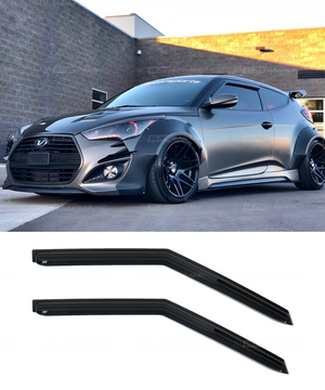 Hyundai Veloster (11-17) Window Visors / Weathershields / Weather Shields - ELITE GARAGE