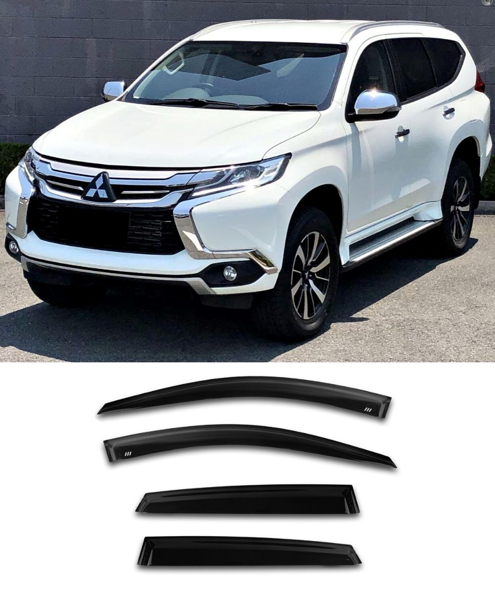Mitsubishi Pajero Sport (15-19) Window Visors / Weathershields / Weather Shields - ELITE GARAGE