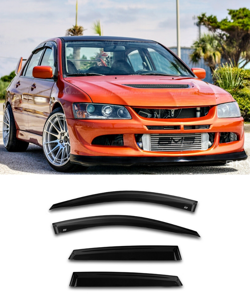 Mitsubishi Lancer EVO 7 8 9 (01-07) Window Visors / Weathershields / Weather Shields - ELITE GARAGE