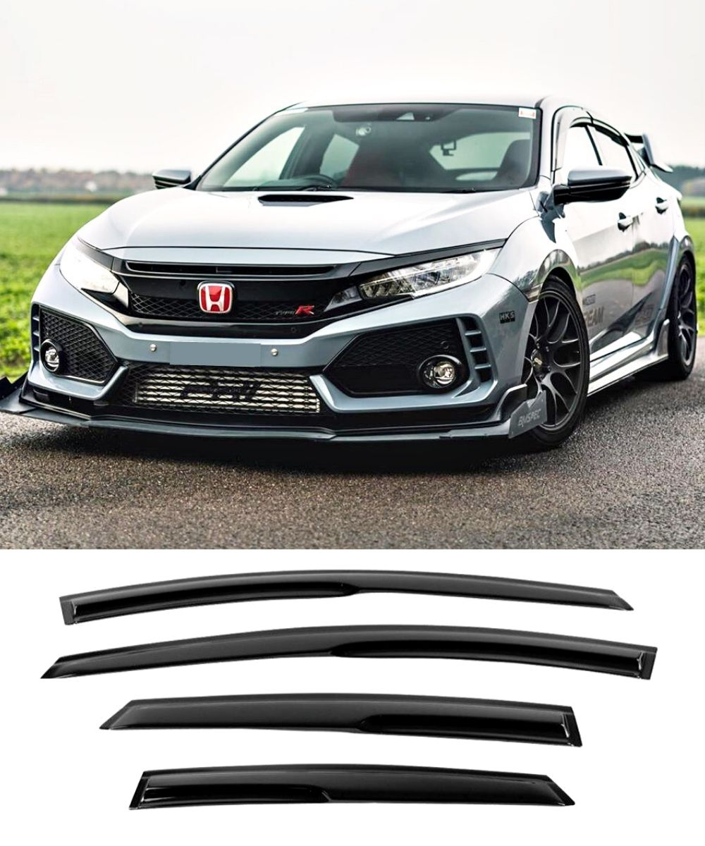 Honda Civic Hatch (16-19) Window Visors / Weathershields / Weather Shields - ELITE GARAGE