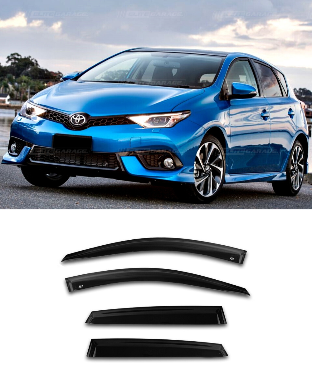 Toyota Corolla Ascent (12-17) Window Visors / Weathershields / Weather Shields - ELITE GARAGE