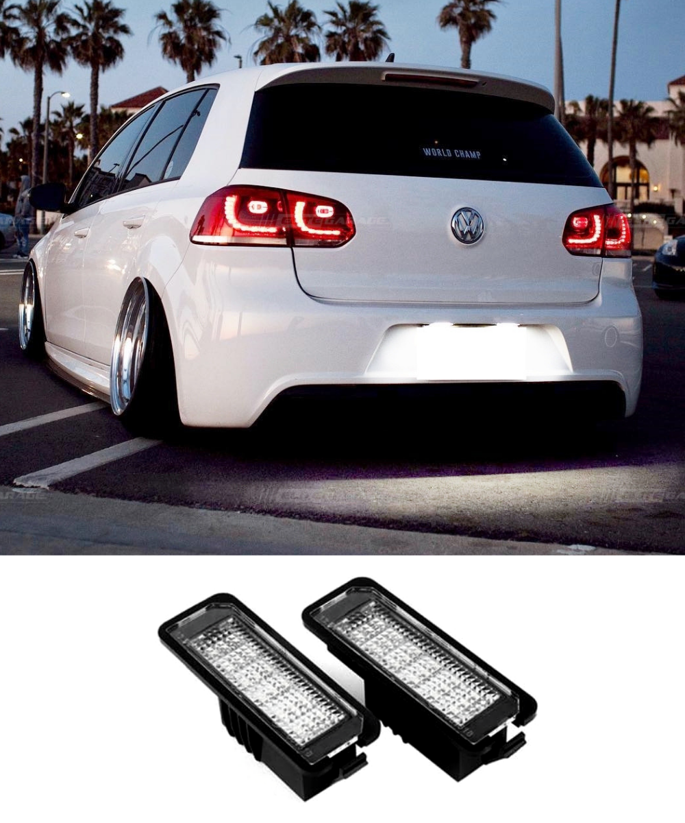 Volkswagen Golf MK6 Rear License Plate LED (09-13) GTI / R - ELITE GARAGE