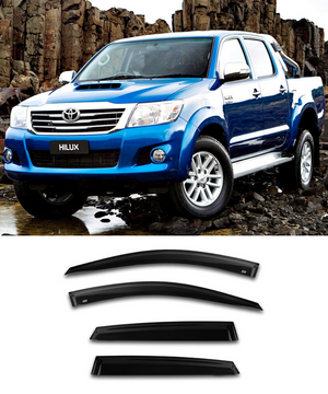 Toyota HILUX Dual Cab (05-15) Window Visors / Weathershields / Weather Shields - ELITE GARAGE