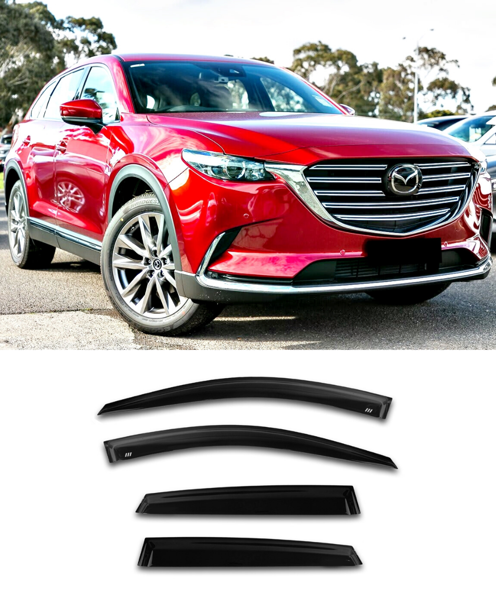 Mazda CX-9 (16-19) Window Visors / Weathershields / Weather Shields - ELITE GARAGE