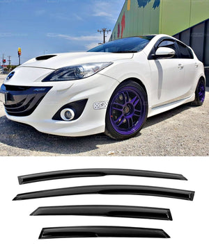 Mazda 3 BL Hatchback (10-13) Window Visors / Weathershields / Weather Shields - ELITE GARAGE
