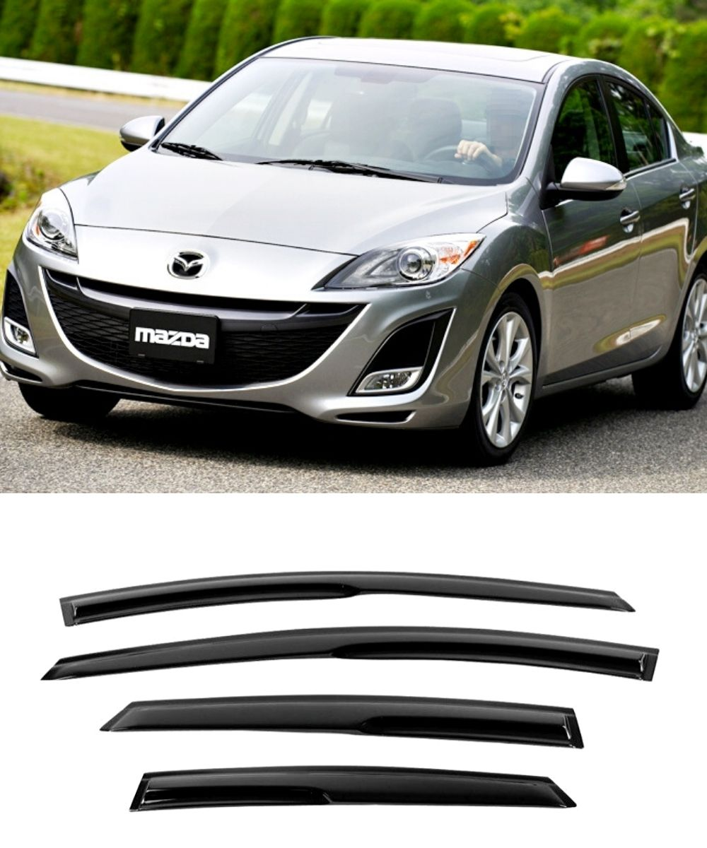 Mazda 3 BL Sedan (10-13) Window Visors / Weathershields / Weather Shields - ELITE GARAGE