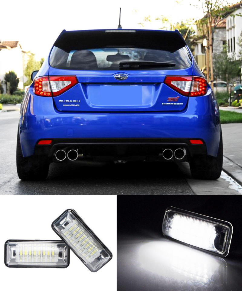 Subaru Impreza WRX STI Hatchback - Rear License Plate LED (08-14) - ELITE GARAGE