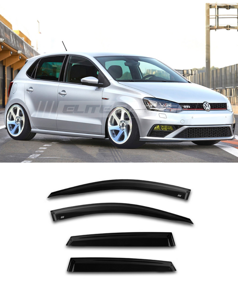 Volkswagen Polo MK5 (10-17) Window Visors / Weathershields / Weather Shields - ELITE GARAGE