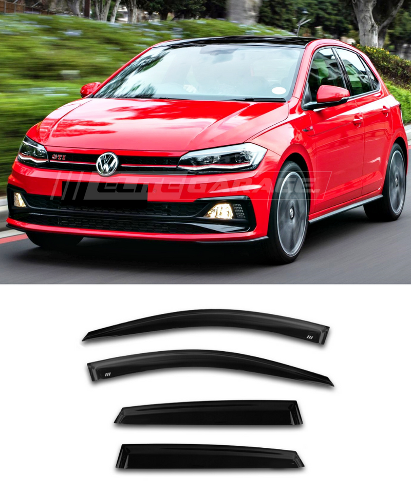 Volkswagen Polo MK6 (17-20) Window Visors / Weathershields / Weather Shields - ELITE GARAGE