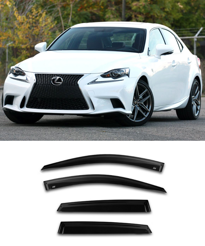 Lexus IS250 IS300 IS350 (13-20) Window Visors / Weathershields / Weather Shields - ELITE GARAGE