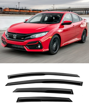 Honda Civic Sedan (16-19) Window Visors / Weathershields / Weather Shields - ELITE GARAGE