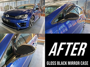 Volkswagen Golf MK7/MK7.5 - Mirror Case Replacement (GLOSS BLACK) (13-19) GTI / R - ELITE GARAGE