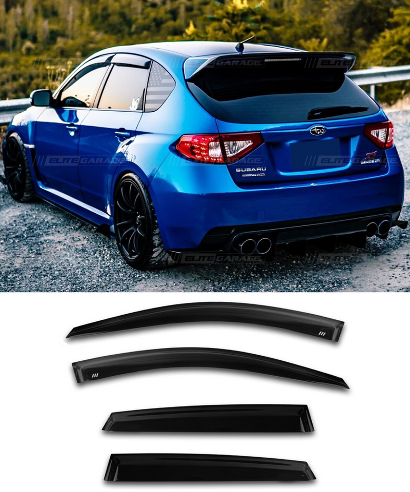 Subaru Impreza G3 WRX STI (08-14) Window Visors / Weathershields / Weather Shields - ELITE GARAGE