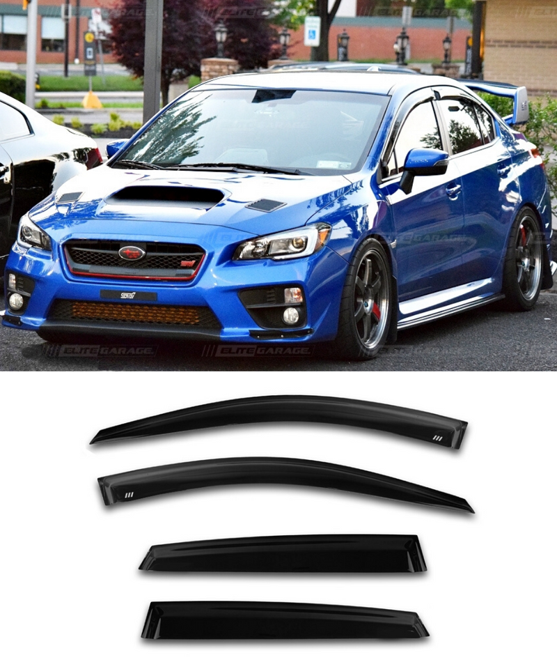 Subaru WRX STI (15-20) Window Visors / Weathershields / Weather Shields - ELITE GARAGE