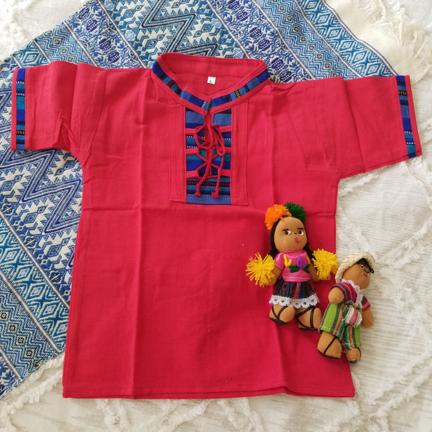 4 to 5 Years Old Unisex Guayabera