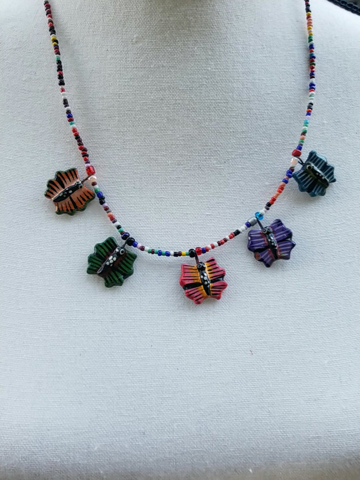 Clay Handpainted  Necklace