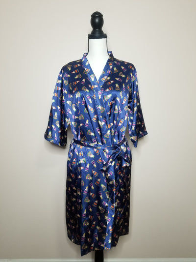 L- XL  Worry Dolls Silk Robe