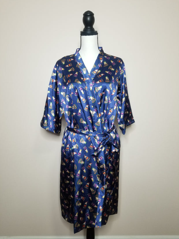 XL - 1X Worry Dolls Silk Robe