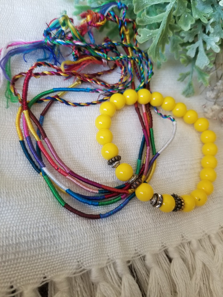 Friendship & Beaded Bracelet Set