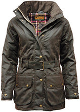 Load image into Gallery viewer, Game Womens Cantrell Antique Waxed Cotton Padded Jacket