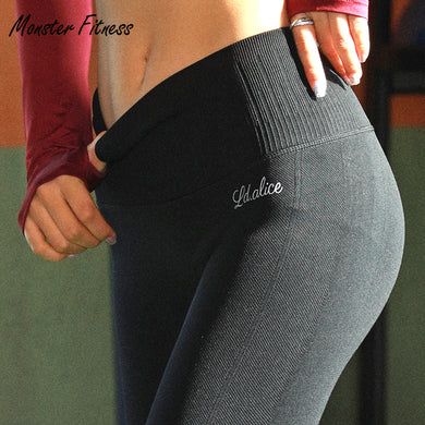 7ac898e2708 Yoga Pants Thick Sport Leggings High Waist Push Up Gym Running Workout Yoga