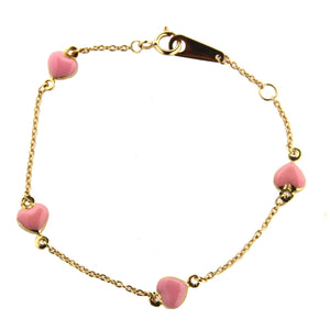 Pink Hearts Baby/Toddler Bracelet