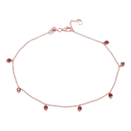 Ruby Love Anklet