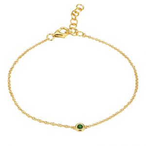 Single Bezel Emerald Bracelet