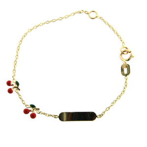 Little Cherries ID Baby Bracelet