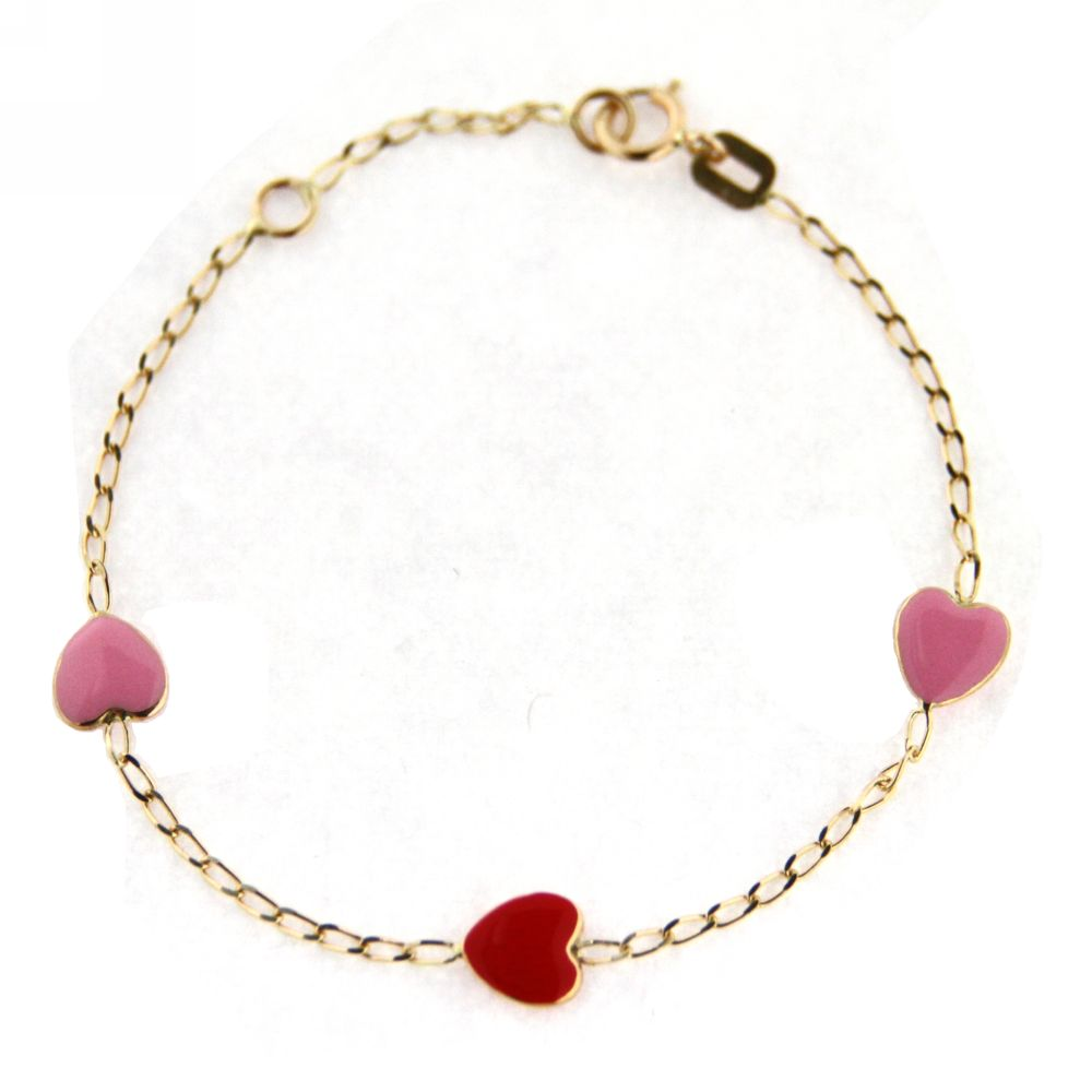 Three Hearts Baby Bracelet