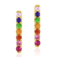 Load image into Gallery viewer, Rainbow Bar Earrings