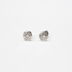 Bezeled Solitaire Stud Medium