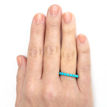 Load image into Gallery viewer, Turquoise Eternity Ring
