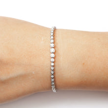 Load image into Gallery viewer, The Rachie Bezel Tennis Bracelet