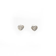 Load image into Gallery viewer, Baby Diamond Heart Bezel Screw Back