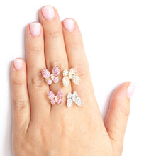 Load image into Gallery viewer, Butterfly Kisses Ring Pink