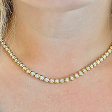 Load image into Gallery viewer, The Rachie Bezel Tennis Necklace