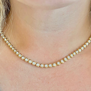 The Rachie Bezel Tennis Necklace