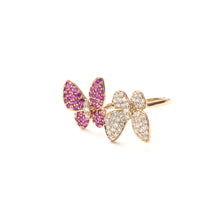 Load image into Gallery viewer, Butterfly Kisses Ring Ruby