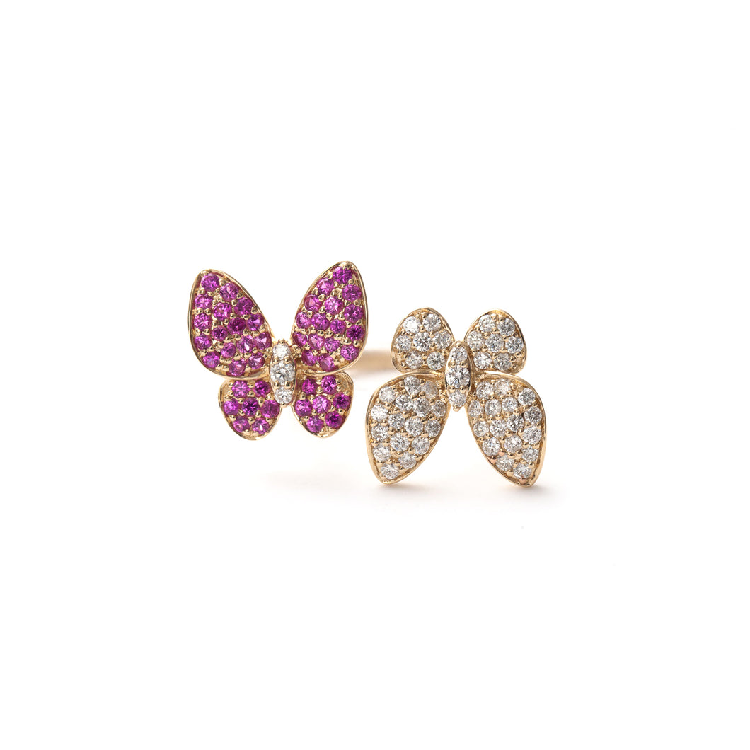 Butterfly Kisses Ring Ruby