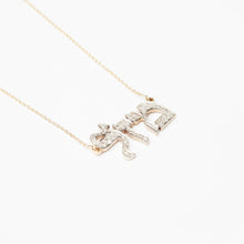 Load image into Gallery viewer, Custom Large Diamond Name Necklace