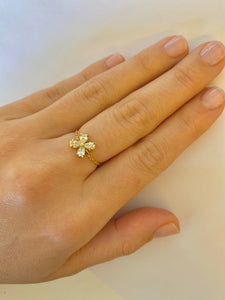 Adjustable Pear Flower Chain Ring
